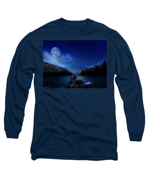 Lonely Hunter Long Sleeve T-Shirt by Bernd Hau