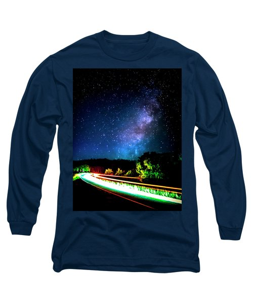 Long Sleeve T-Shirt featuring the photograph Lonesome Texas Highway by David Morefield