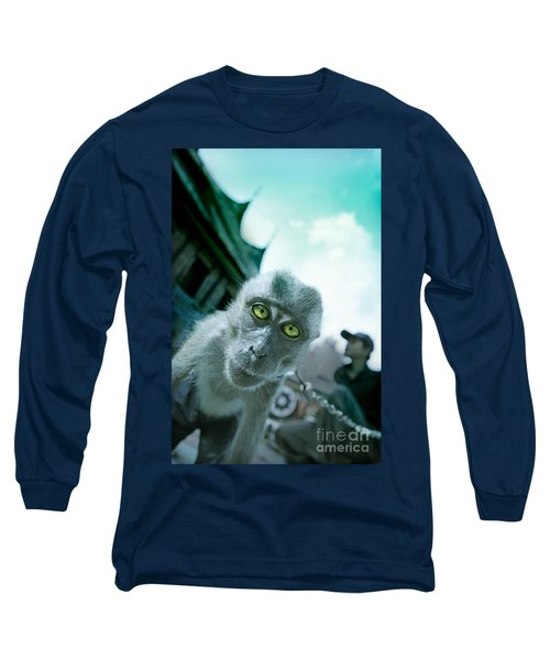 Look Into My Eyes Long Sleeve T-Shirt by Charuhas Images