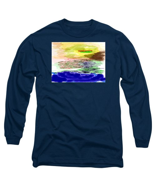 Looking Outward From The Blue Long Sleeve T-Shirt