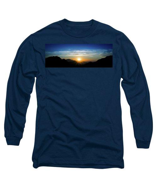 Los Angeles Desert Mountain Sunset Long Sleeve T-Shirt
