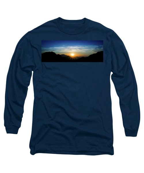 Los Angeles Desert Mountain Sunset Long Sleeve T-Shirt