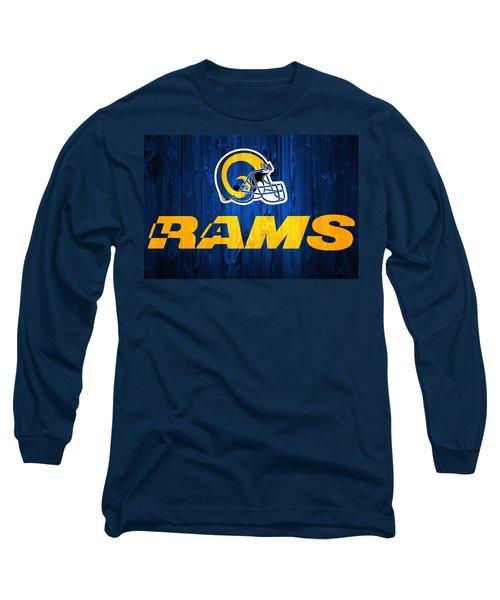Los Angeles Rams Barn Door Long Sleeve T-Shirt