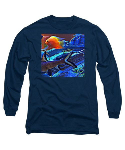Long Sleeve T-Shirt featuring the photograph Love The Sea by Peggy Stokes