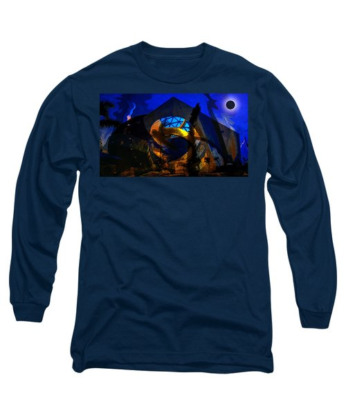 Lunar Eclipse Over The Dali Long Sleeve T-Shirt by David Lee Thompson