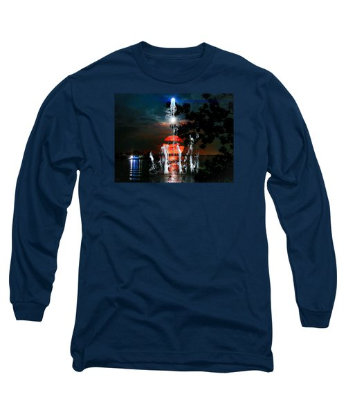 Lunar Event Horizon Long Sleeve T-Shirt by Glenn Feron