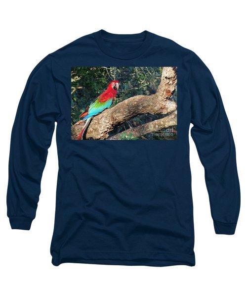 Macaw Resting Long Sleeve T-Shirt