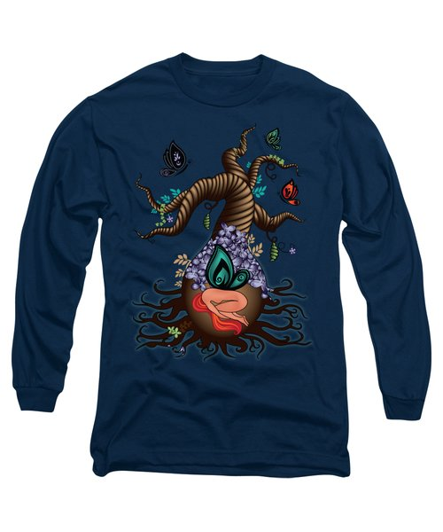 Magic Butterfly Tree Long Sleeve T-Shirt by Serena King