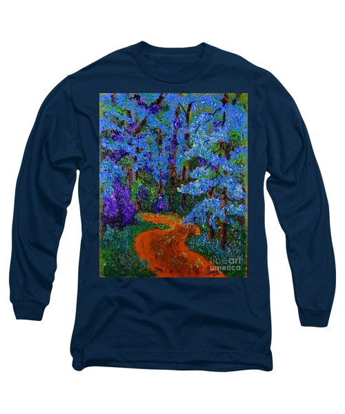 Magical Blue Forest Long Sleeve T-Shirt