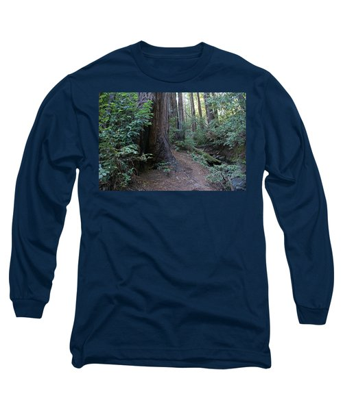 Magical Path Through The Redwoods On Mount Tamalpais Long Sleeve T-Shirt