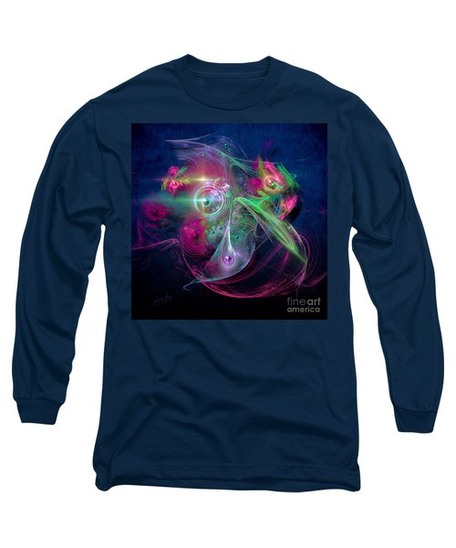 Long Sleeve T-Shirt featuring the painting Magnetic Fields by Alexa Szlavics