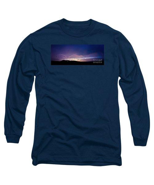 Magnificent Sunset Lightning Long Sleeve T-Shirt