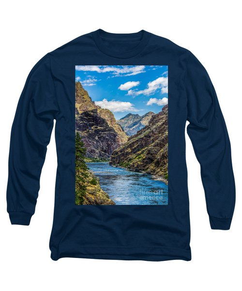 Long Sleeve T-Shirt featuring the photograph Majestic Hells Canyon Idaho Landscape By Kaylyn Franks by Omaste Witkowski