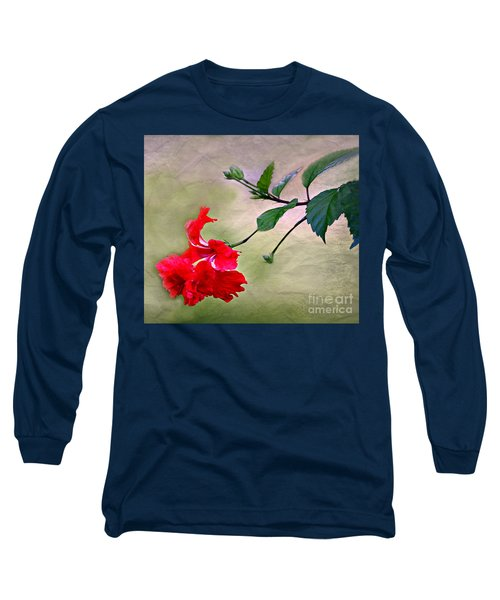 Majestic Hibiscus Bloom Long Sleeve T-Shirt