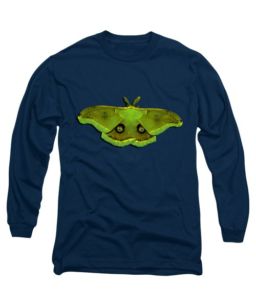 Long Sleeve T-Shirt featuring the photograph Male Moth Green And Yellow .png by Al Powell Photography USA