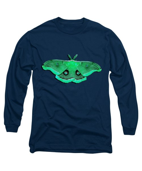 Long Sleeve T-Shirt featuring the photograph Male Moth Green .png by Al Powell Photography USA