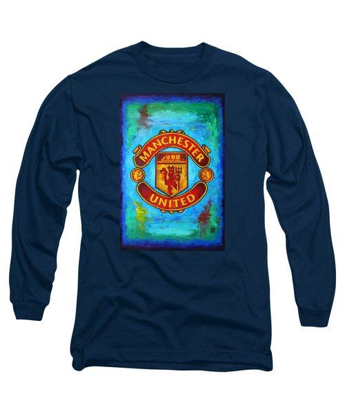 Manchester United Vintage Long Sleeve T-Shirt by Dan Haraga