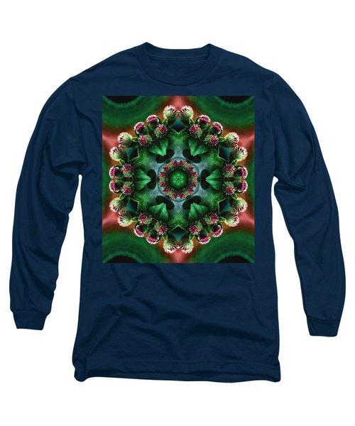Mandala Bull Thistle Long Sleeve T-Shirt