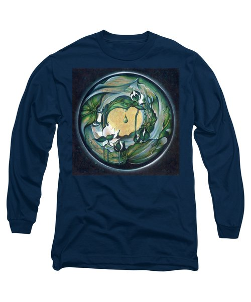 Long Sleeve T-Shirt featuring the painting Mandala Of Regeneration by Anna Ewa Miarczynska