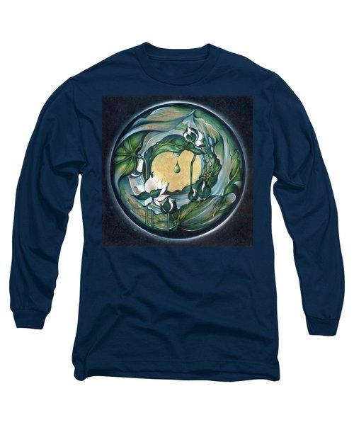 Mandala Of Regeneration Long Sleeve T-Shirt by Anna Ewa Miarczynska