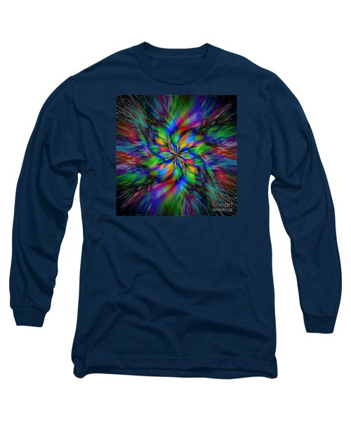 Long Sleeve T-Shirt featuring the photograph Mandala Twirl 01 by Jack Torcello