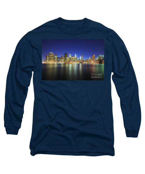 Manhattan Nite Lites Nyc Long Sleeve T-Shirt