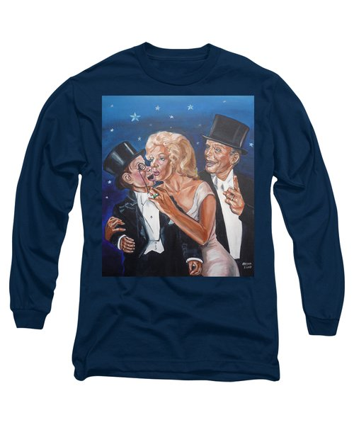 Marilyn Monroe Marries Charlie Mccarthy Long Sleeve T-Shirt