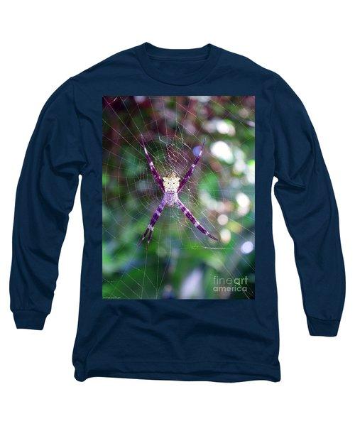 Maui Orbweaver/garden Spider Long Sleeve T-Shirt by Gena Weiser