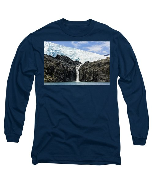 Meltwater From The Northland Glacier Long Sleeve T-Shirt by Ray Bulson