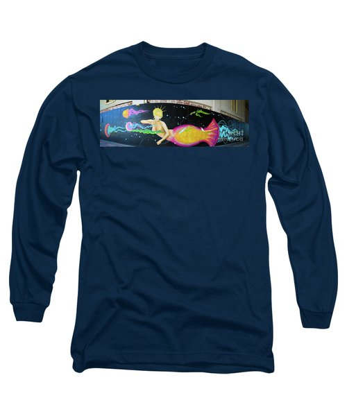 Long Sleeve T-Shirt featuring the photograph Mermaid And Jellyfish Panoramic by Colleen Kammerer