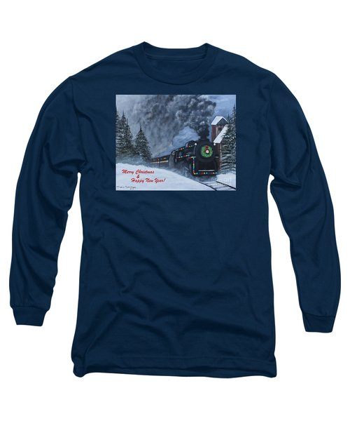 Merry Christmas Train Long Sleeve T-Shirt