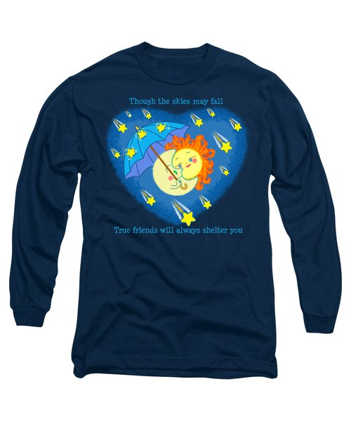 Long Sleeve T-Shirt featuring the digital art Meteor Shower 3 by J L Meadows