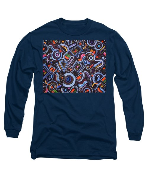 Long Sleeve T-Shirt featuring the painting Metrimorphic Lll by Lynda Lehmann