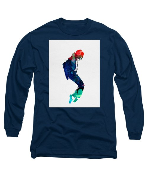 Michael Watercolor Long Sleeve T-Shirt by Naxart Studio