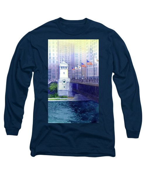 Michigan Avenue Bridge Long Sleeve T-Shirt