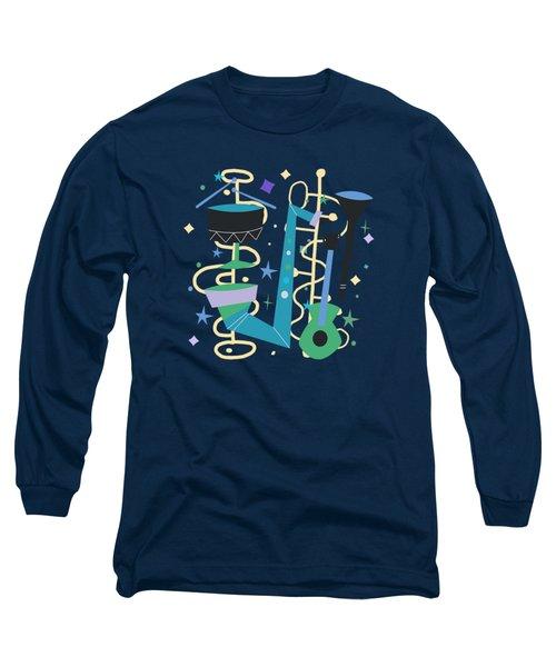 Midcentury Modern Fifties Jazz Composition Long Sleeve T-Shirt