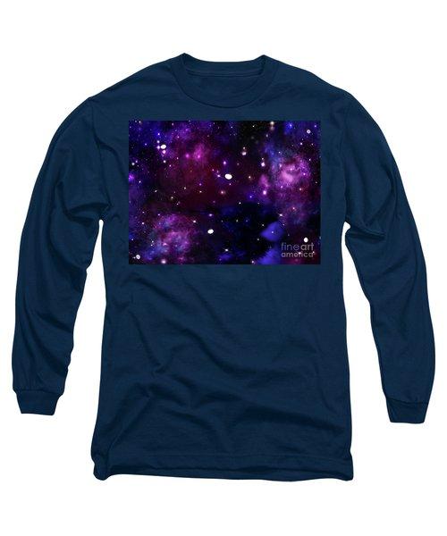 Midnight Blue Purple Galaxy Long Sleeve T-Shirt