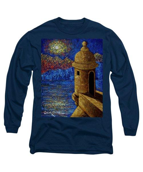 Midnight Mirage In San Juan Long Sleeve T-Shirt by Oscar Ortiz