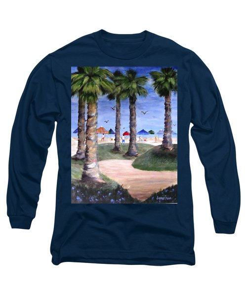 Mike's Hermosa Beach Long Sleeve T-Shirt by Jamie Frier