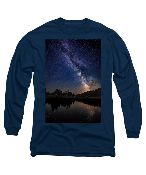 Milky Way Over The Deschutes River Long Sleeve T-Shirt