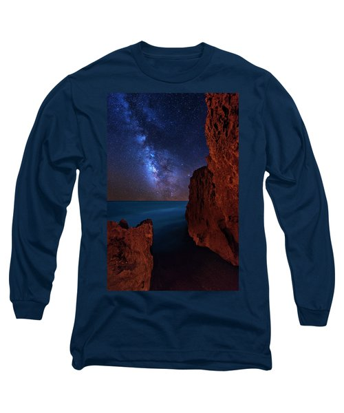 Milky Way Over Huchinson Island Beach Florida Long Sleeve T-Shirt