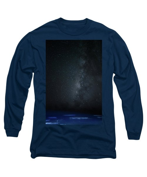 Long Sleeve T-Shirt featuring the photograph Milky Way Over Poipu Beach by Roger Mullenhour