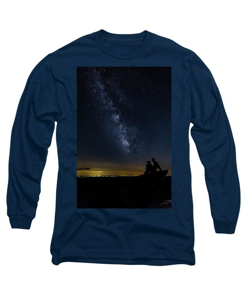 Milky Way Viewed From Rough Ridge Long Sleeve T-Shirt