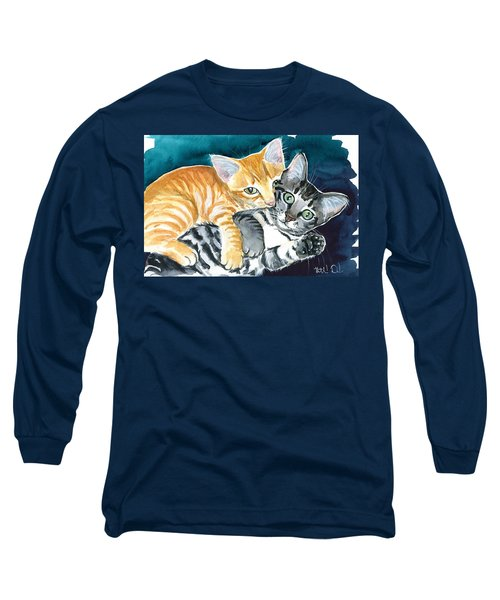 Milo And Tigger - Cute Kitty Painting Long Sleeve T-Shirt