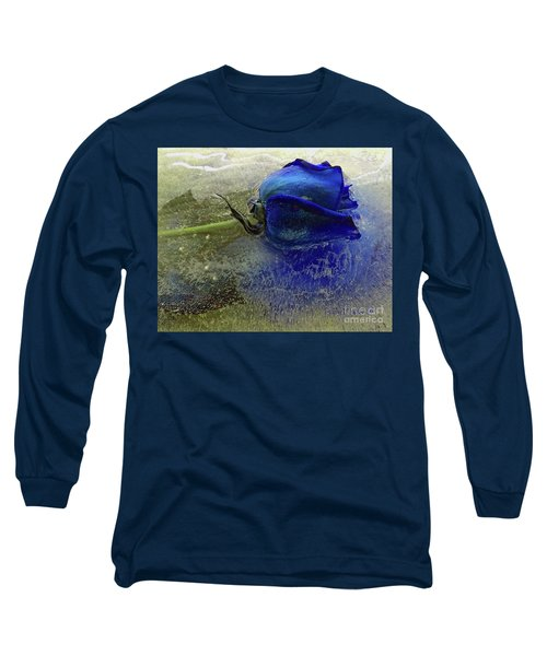 Misty Blue Long Sleeve T-Shirt by Terry Foster