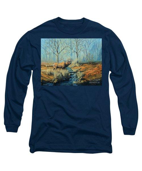 Misty Morning Bugler Long Sleeve T-Shirt