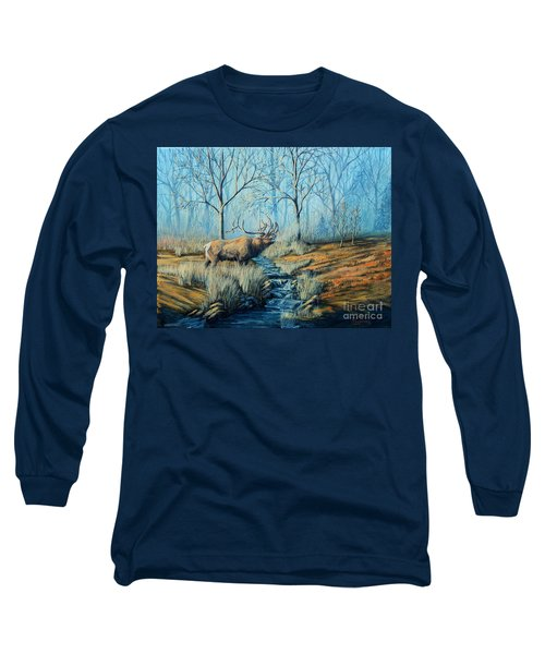 Misty Morning Bugler Long Sleeve T-Shirt by Ruanna Sion Shadd a'Dann'l Yoder