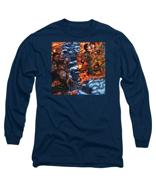 Mitosis Microbiology Landscapes Series Long Sleeve T-Shirt by Emily McLaughlin