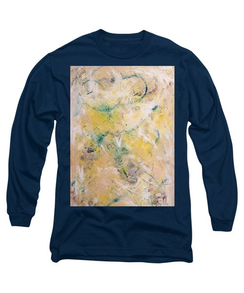 Mixed-media Free Fall Long Sleeve T-Shirt by Gallery Messina