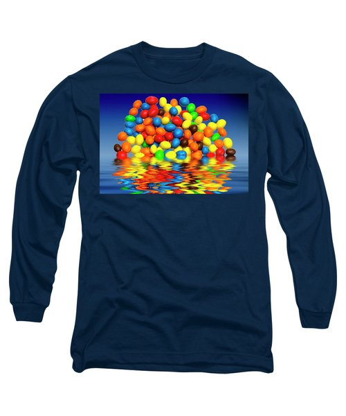 Long Sleeve T-Shirt featuring the photograph Mm Chocolate Sweets by David French